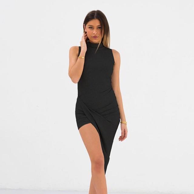 Nieuww: LA Sisters Ribbed Dress Black #followfashion #lasisters #dress #ootd #outfit