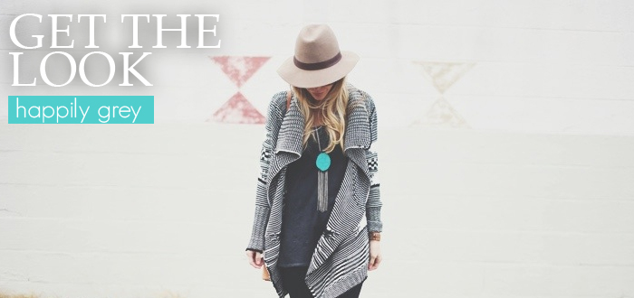 Get the look: Happily Grey