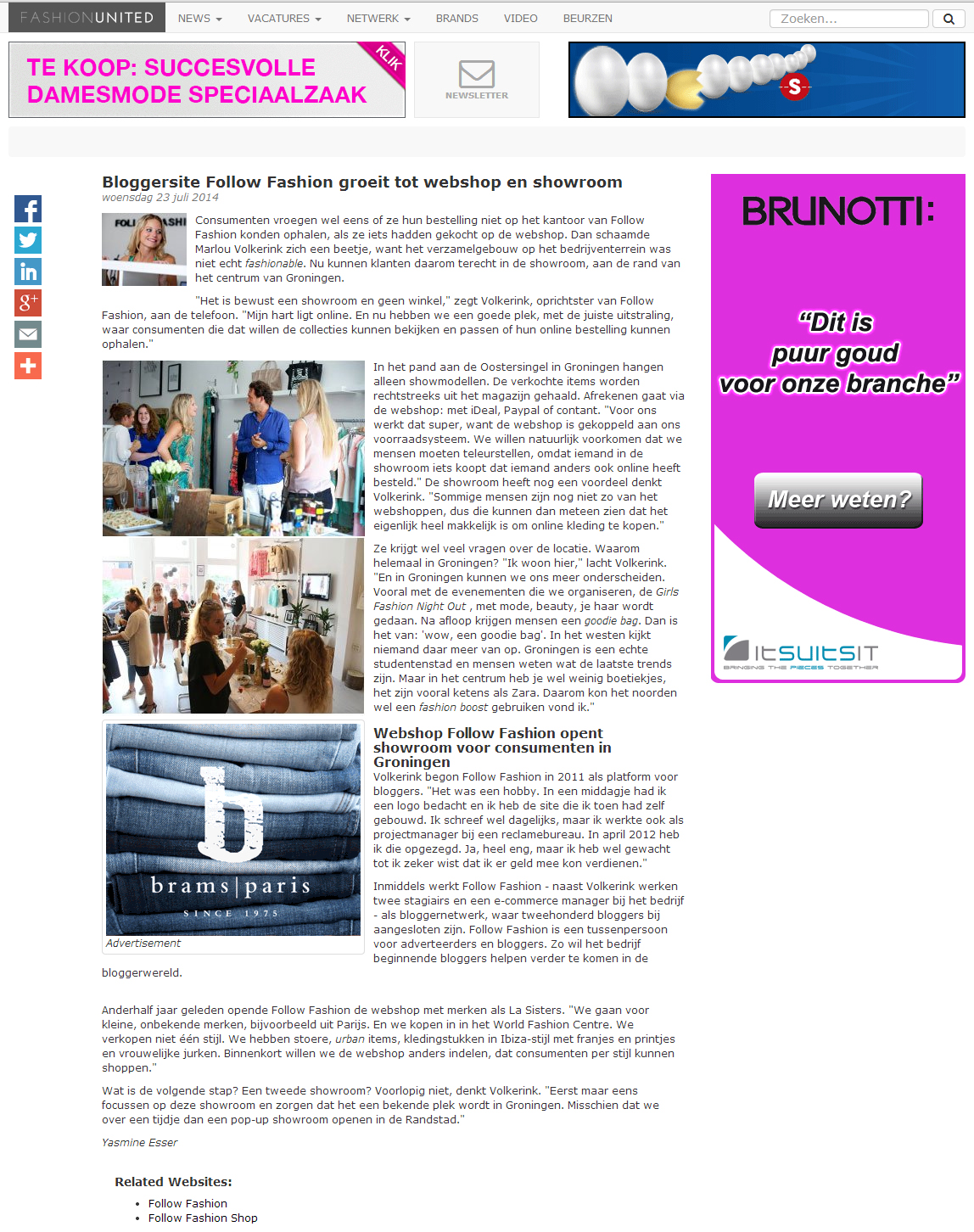 artikel op fashionunited