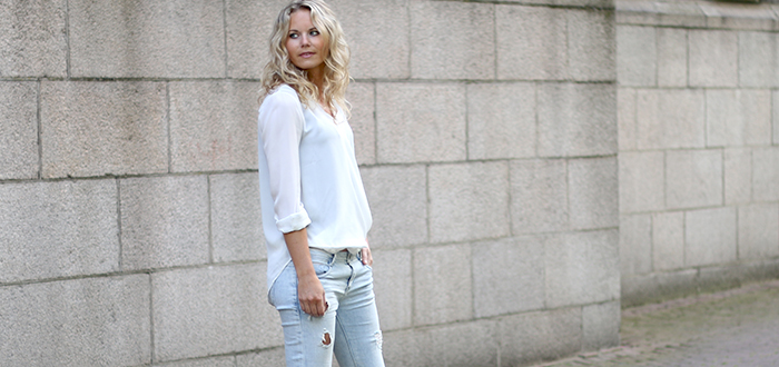 Outfit Marlou: White Blouse