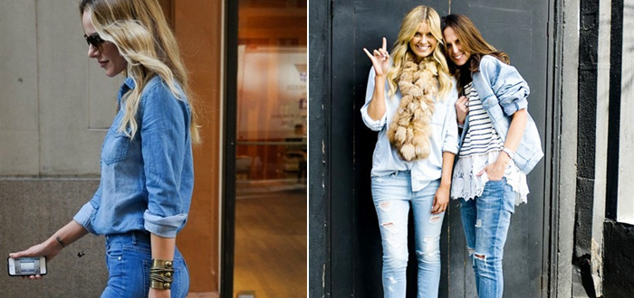 Trend gespot: denim on denim
