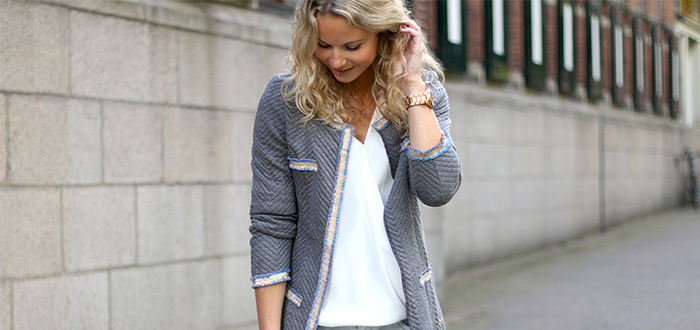 Outfit of the Day: Classy grey cardigan