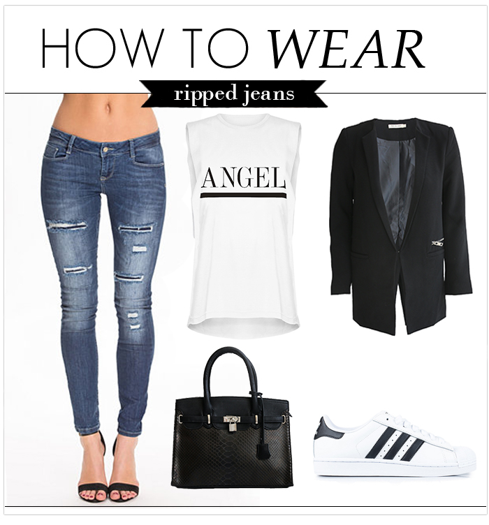 How to wear: Ripped jeans