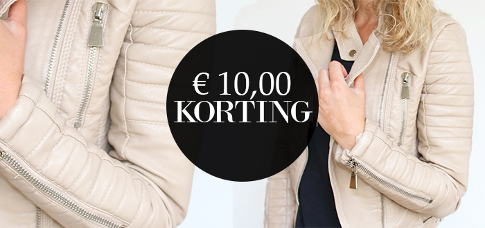 WEEKDEAL: €10 korting op de Beige Biker Jacket