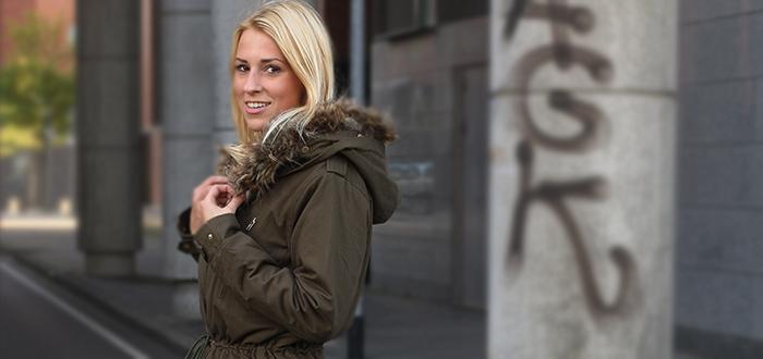 Outfit Ylze: Groene parka winterjas