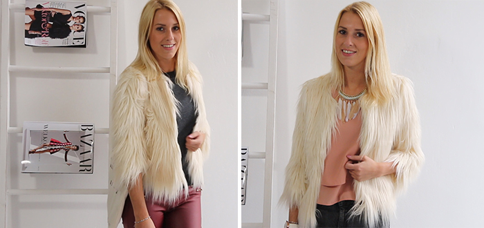 How to wear: Fake fur vest