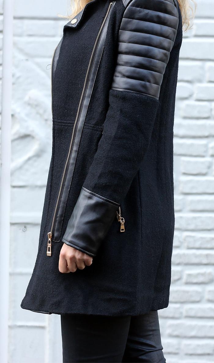 Nette Dames Winterjas.Outfit Marlou Geruite Blouse Follow Fashion