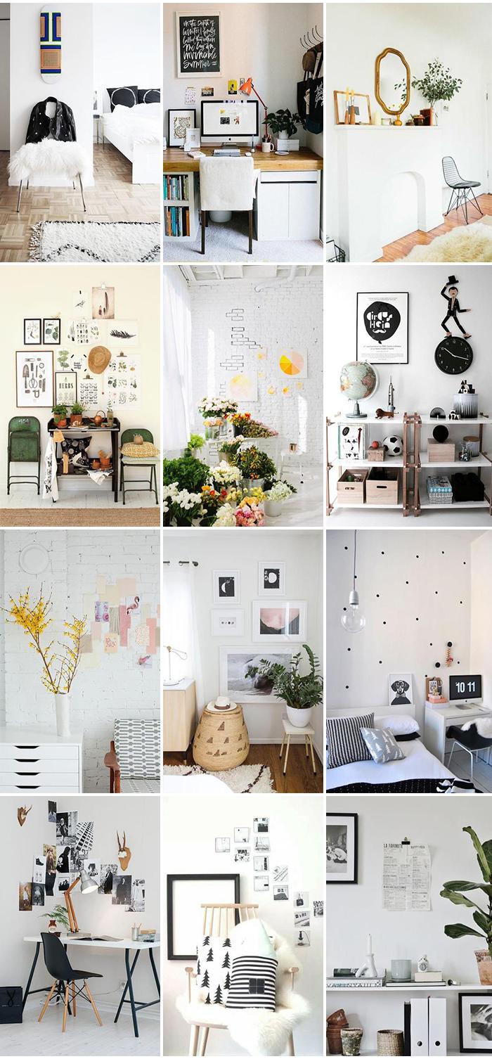 Inspiratiepost witte muur decoratie follow fashion - Foto decoratie ...