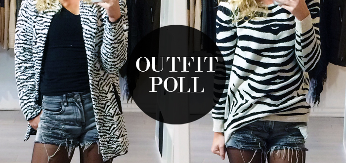Outfit poll: Zebra sweater vs vest