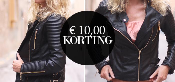 WEEKDEAL: €10 korting op het Black Biker Jack