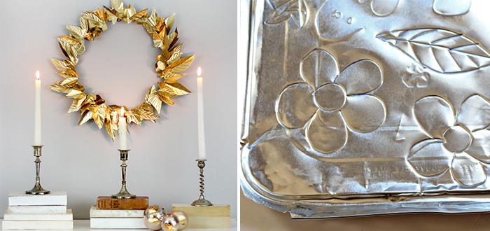 DIY: Gouden herfstkrans