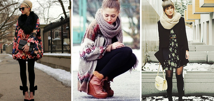 How to wear: Bloemetjes print in de winter