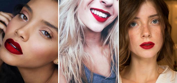 donker rode matte lipstick
