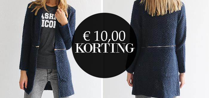 WEEKDEAL: Vest met navy kleur met €10 korting