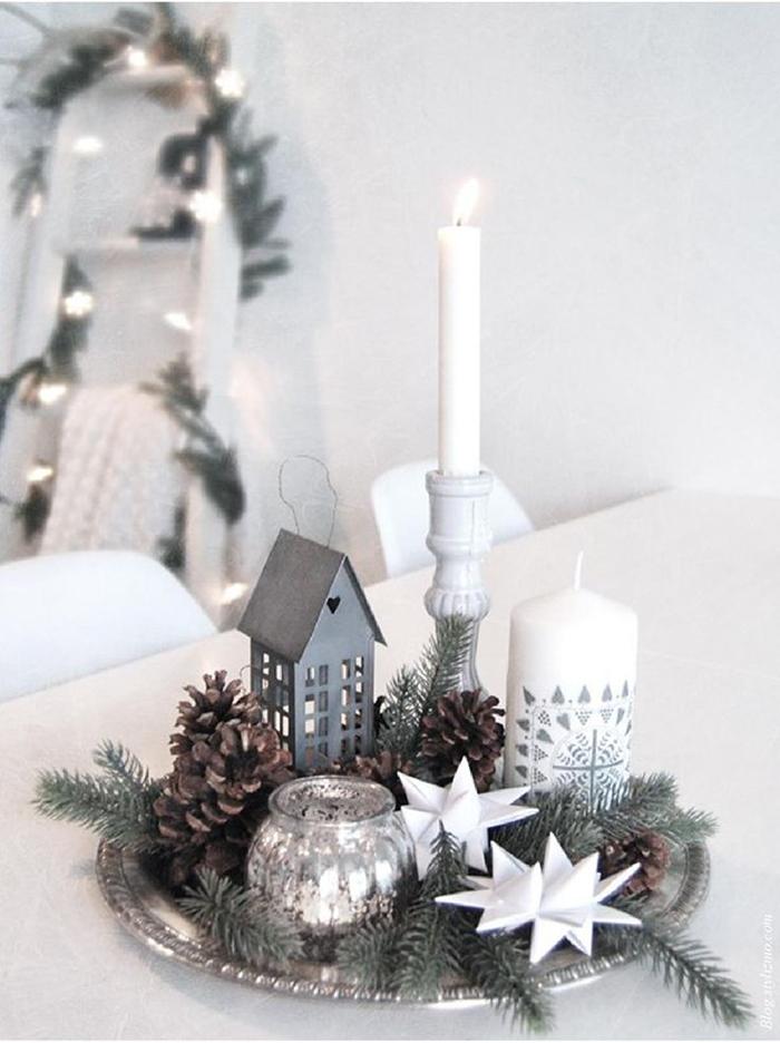 beautiful houd jij niet van die grote maar wil je wel iets voor kerst in je interieur ga dan voor een dienblad en decoreer deze met with een sfeervol kerst