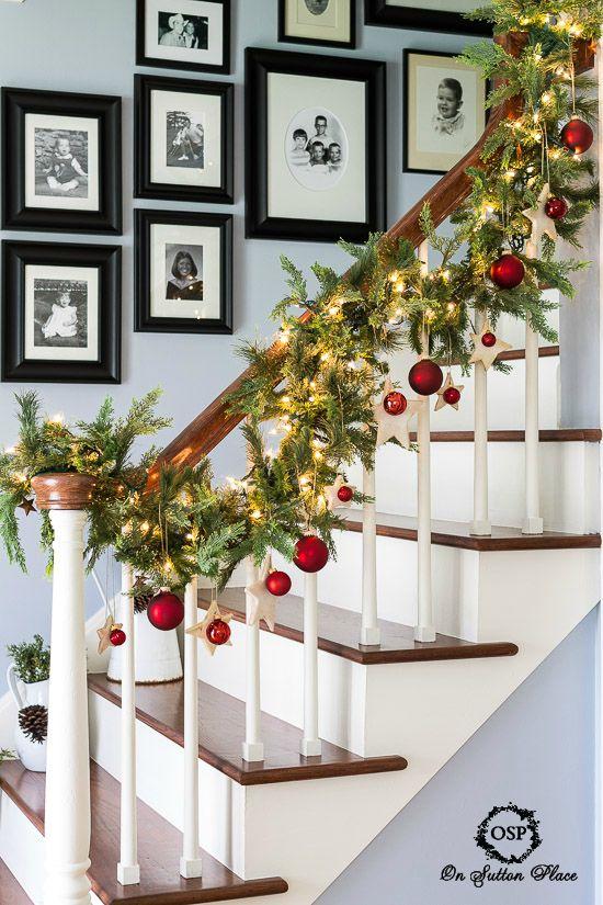 10 x sfeervolle kerst interieur inspiratie follow fashion - Versier een trap ...