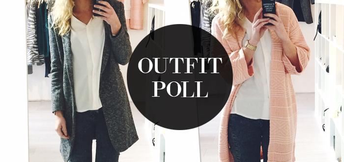 Outfit poll: grijze blazer vs oversized vest