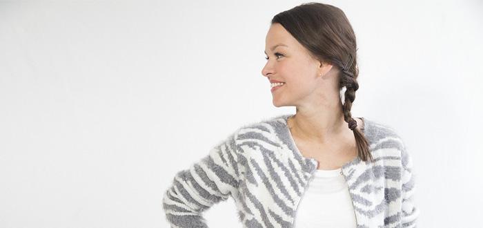 Outfit Stephanie: Fluffy Zebra Vest