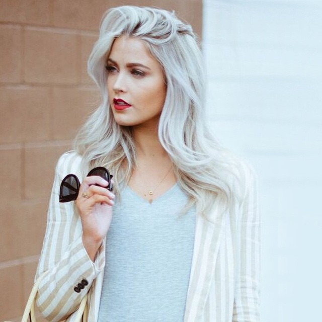 Moodboard on the blog: silver hair! Hot or not? Link in bio #followfashion #silver #hair #hairdo #follow #fashion #inspiration