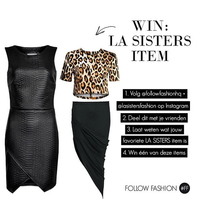 WIN: een item naar keuze van LA Sisters! Check onze webshop voor de hele collectie. Kies jouw favoriete item, laat je reactie hieronder achter en deel deze foto op je profiel. Vergeet niet om @followfashionhq en @lasistersfashion ook te volgen ? #followfashion #lasisters #win #winactie #follow #fashion #instafashion