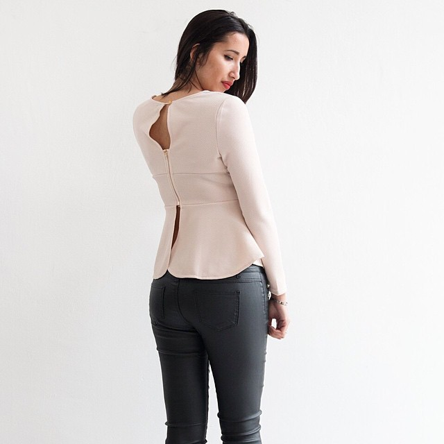New in shop: Lofty Manner peplum top. Love the back? #followfashion #peplum #musthave #loftymanner #outfit #ootd #follow #fashion #instafashion