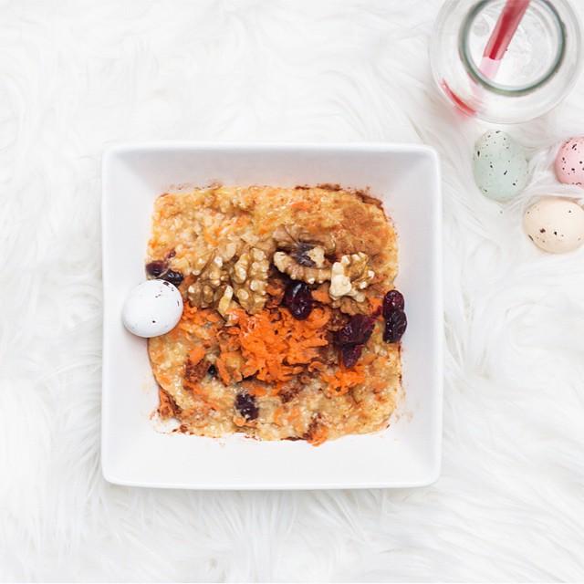 Yumm! Marlotte maakte deze healthy worteltaart met havermout. Perfect voor Pasen! Het recept vind je op onze blog #followfashion #food #instafood #foodporn #healthy #easter