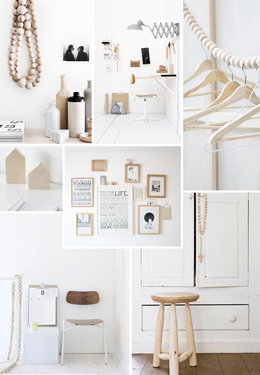 Interieurinspiratie hout en wit follow fashion for Interieur zwart wit