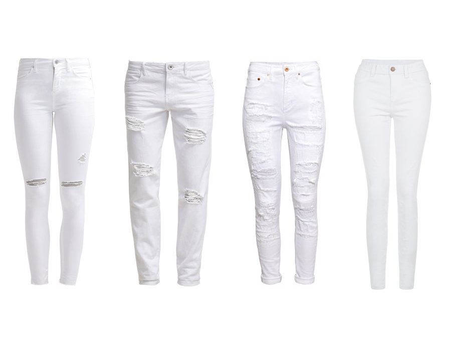 witte jeans