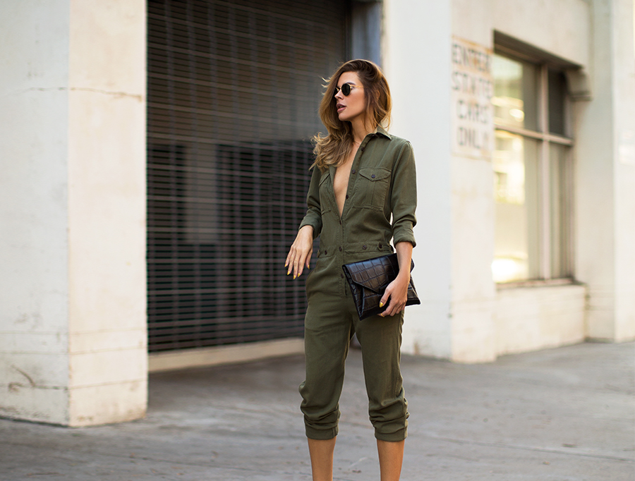 army green outfits