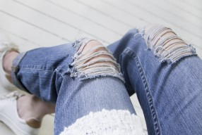DIY: Ripped boyfriend jeans