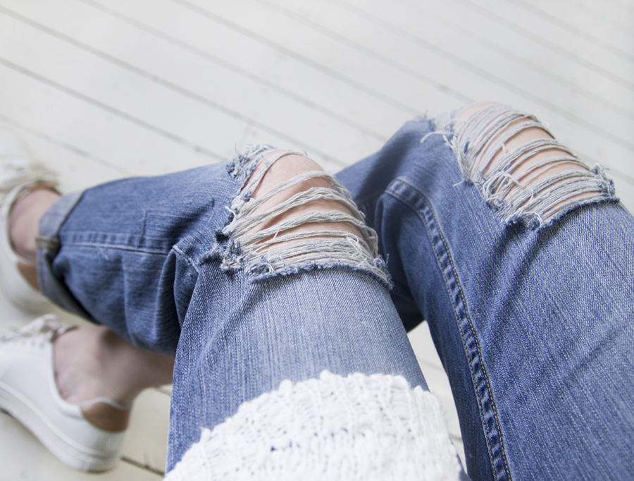 Diy Ripped Jeans Follow Fashion