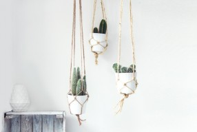 DIY: Plantenhanger knopen