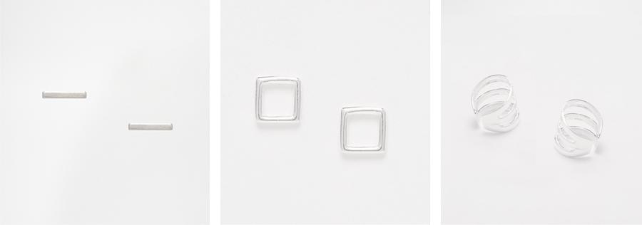 minimalistische oorbellen