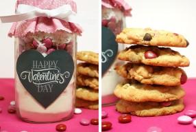 DIY: Valentijn Mason Jar met koekjes mix