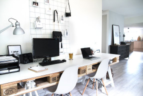 Van een groot kantoor naar een 'home office'