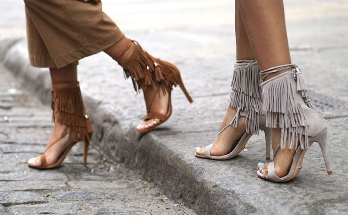 schoenen met fringes