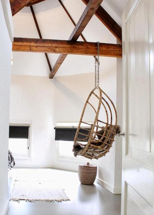 Egg Chair Met Standaard.Wooninspiratie Hanging Egg Chair Follow Fashion