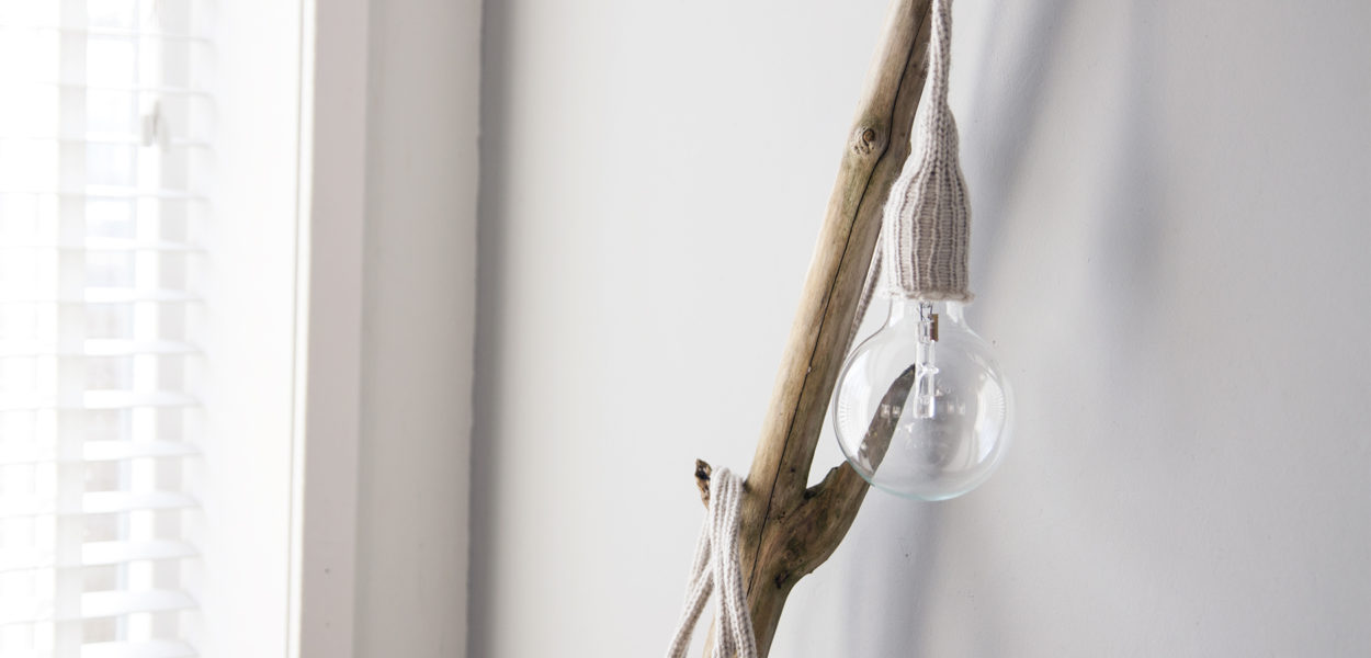 DIY lamp gebreid