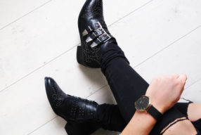 How to wear: studded ankle boots