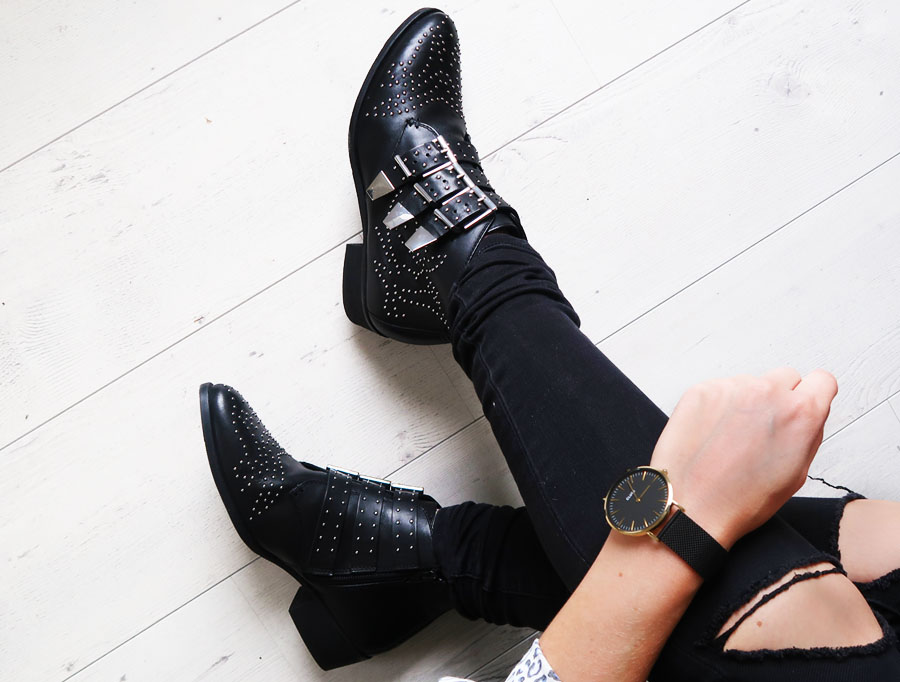 HOW TO WEAR STUDDED ANKLE BOOTS