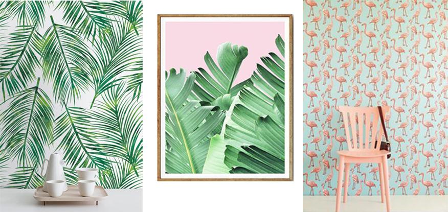 tropische prints interieur