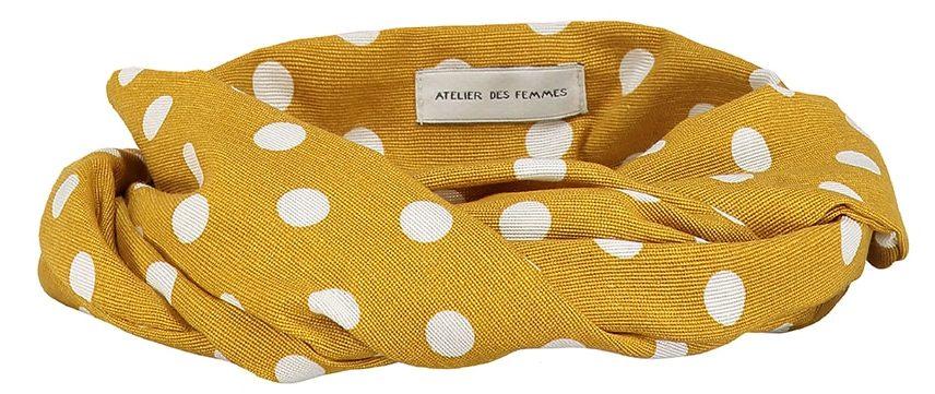 bandana haarband geel