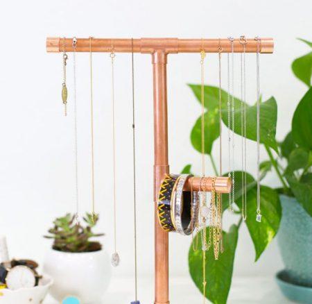 DIY: Sieraden rek maken van koper