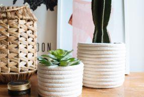 DIY: bloempot van touw maken