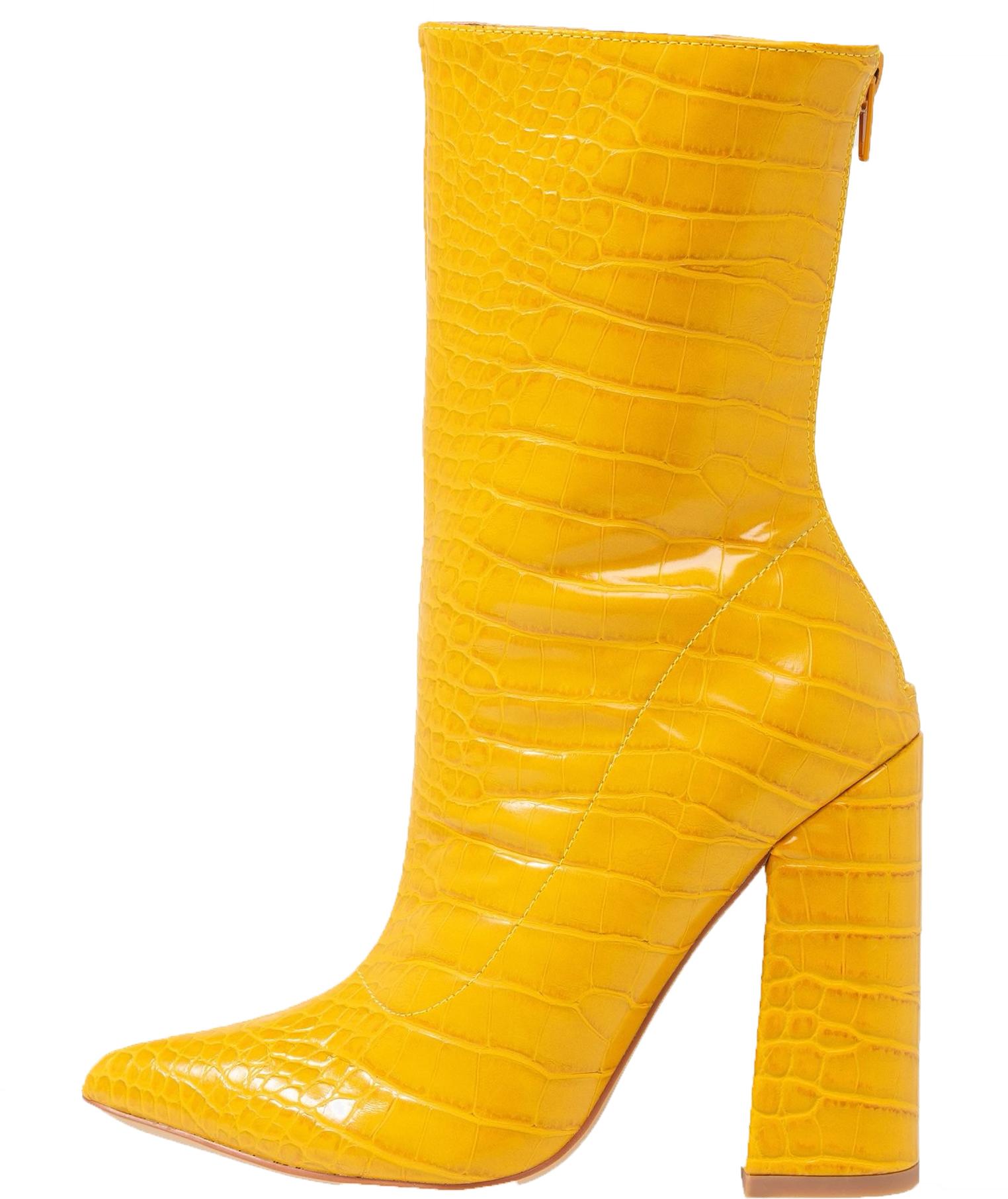 trend kleur geel laarzen