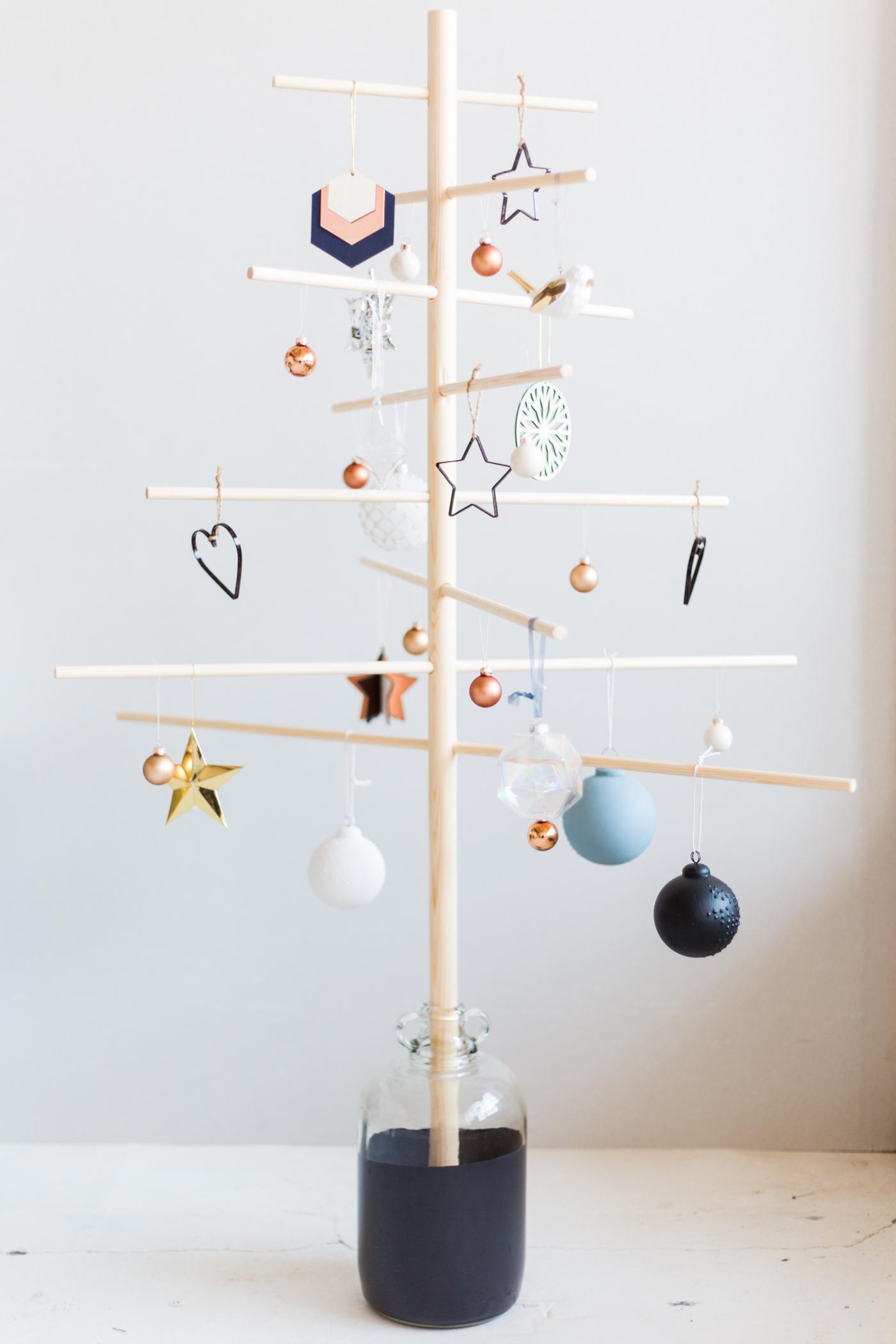 houten kerstboom diy