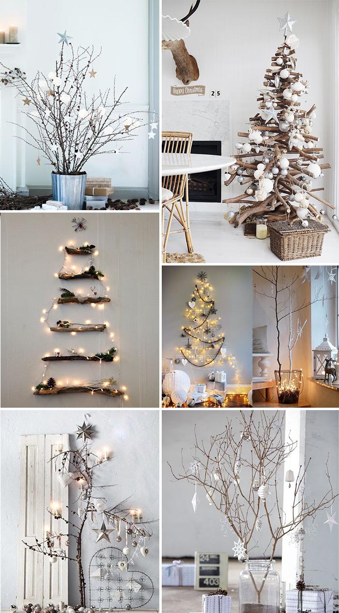 kerst interieur ideeen alternatieve kerstboom