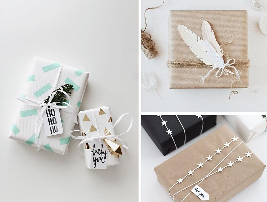 kerst interieur ideeen cadeautjes-inpakken