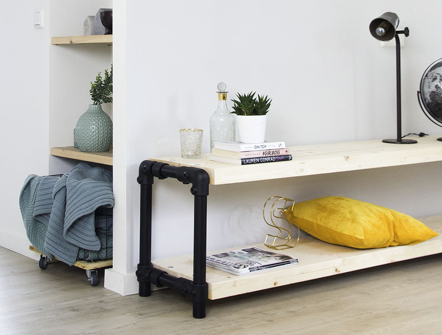 Metalen meubels met hout - Dé interieur trend van 2018