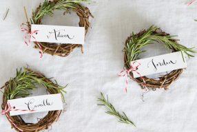 DIY naamkaartjes voor het (kerst)diner